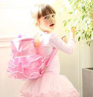 ballet dance bag - 2016 New Girls fashion tutu ballet shoulders bags dance bag teens boutique tutu lace pink dance backpack