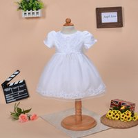 Wholesale fashion beaded lace pieces set christening dresses for baby girl baby christening gowns for wedding and party