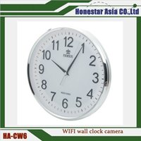 Wholesale Hot Wifi Wall Clock Camera Motion Detection Nanny Record Camera Home Security long time recording Mini spy Cameras