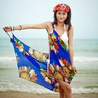Wholesale Chiffon Pareo Dress Wrap Beach Swimwear Cover up beach dress Beachwear swimwear resort dress halter dress beach towel