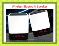 aux input lead - Portable Wireless Bluetooth speaker Stereo Speaker Support AUX Audio Input Handsfree Call LED Shinning Time Alarm Clock speaker