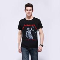 beatles tee shirts - 2016 Iron Maiden Man Tshirt Metallica Beatles Summer Tops Tees T shirt Rock Hip Hop T shirt Famous Brand