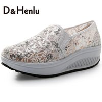 animals have fur - D amp H Sequined Breathable Swing Wedges Women s Casual Shoes Platform Canvas Shoes Summer Lose Weight Fitness Shoes Woman White