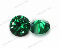 Wholesale 30pcs AAAAA Apple Green mm Cubic Zirconia Stone Round Cut Loose CZ Stone Synthetic Gems For Jewelry