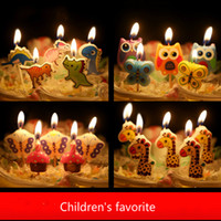 Wholesale 120pcs Cartoon creative Baby birthday candles Kids children party birthday candles lovely smokeless candles whosales