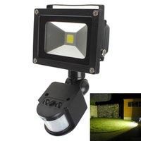 20W PIR Sensor de movimiento infrarrojo del cuerpo impermeable LED de luz de inundación AC 85-265V exterior llevó iluminación de paisaje