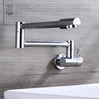 Wholesale Han Pai Brass Chrome Wall Mounted Cold Water Kitchen Tap Pb free Sink Faucet torneira cozinha HP9105