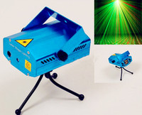 Wholesale 2pcs Holiday Sale Blue Mini Laser Stage Lighting mW Mini Green Red LED Laser DJ Party Stage Light Black Disco Dance Floor Lights