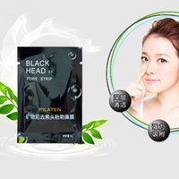 Wholesale PILATEN Black Mask Face Care Suction Mask Cleaning Tearing Style Pore Strip Deep Cleansing Nose Acne Blackhead Remove Black Head