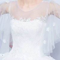 arm cover ups - Ultra thin arm cover Xian lace flower princess bride s perspective of Qi word shoulder dress The paper yarn hazy flowers crystal lace il