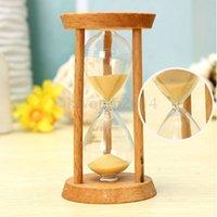 Wholesale Mini Frame Glass Sand Sandglass Hourglass Timer Clock Time Decor Gift Minutes Sense of Time Learning Toy