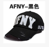 afny cap - 2016 Korean summer AFNY hat worn letter peaked cap hole female hat fashion baseball cap outdoor sports Hiphop caps women hat cap