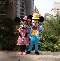Compra Mickey mouse mascot costume-El vestido caliente EMS del color de rosa de la mascota de Minnie de la mascota de Mickey de la mascota del traje de la mascota de Mickey Mouse de las ventas calientes LIBERA EL ENVÍO