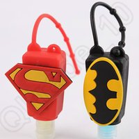 antibacterial hand wash - 50PCS BATMAN V SUPERMAN Cartoon Pattern LOGO Antibacterial Hand Gel Travel Portable Silicone Hand Soap Sanitizer Free Washing LJJJ84