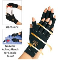 art therapeutic - NEW Copper Hands Men Women Black Copper Hands Arthritis Gloves Therapeutic Compression For Sports For Health Care With Logo Package