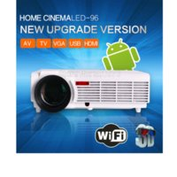 Wholesale 2016 New Lumens smart Android LCD LED Projector Support Full HD D Home Theater Video Proyector Beamer