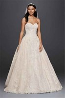 Wholesale Strapless Ball Gown with Lace Appliques CWG749 Expose Boning Classic Light Champagne Bridal Gowns vestido de novia