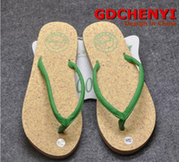Wholesale Elsa Shoes Top Fashion Green Black Red Women Us6 In The Summer of New Pu Leather Sandals Fashion Ladies Slippers Rubber Wood