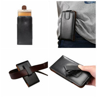belt pouch holster - Hip Flip Protective Covers Holster Vertical Clip Genuine Real Leather Case For Iphone S SE Galaxy S7 Edge S6 Plus Belt Pouch