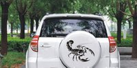 animal door pulls - Individuality Personalized Car Stickers Car Pull Flower Front Bumper Cover Scratches Car Stickers Car Stickers Scorpion
