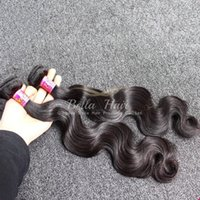 Wholesale Human Hair Weave Bundles Brazilian Virgin Hair Body Wave Natural Color Hair Extensions Bella Hair Bundles