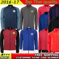 Wholesale 2016 MancHESTER jersey jacket coutinho gerrard IBRAHIMOVIC POGBA Rooney Chelsea jacket OSCAR HAZARD ALEXIS OZIL training jacket