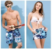 Wholesale Fashion Lovers Beach Pants Men s Wonmen s Shorts New style Young Digital Printing Big Size Good quality Quick drying Cloth Swimming Sports