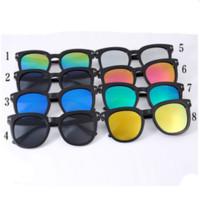 Wholesale MOQ New Fashion Woman Sunglass Mini Order PC Plastic Full Frame Driving Riding Shopping Sunglasses colors RF