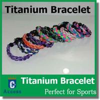 baseball bracelets - 2016 Titanium Sport Tornado Bracelets Baseball Ionic FREE DHL