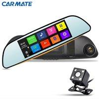 automobile gps navigation - New quot Car DVR GPS Navigation Recorder Automobile DVR Video Mirror Dash Cam HD P Rearview Mirror Camera Dual Lens
