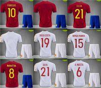 Wholesale 2016 Spain jerseys camiseta futbol ESPANA IKER CASILLAS DE GEA INIESTA FABREGAS MORATA DIEGO COSTA SERGIO RAMOS shirt