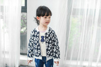 Wholesale Cheap Wholesale Sweats - Kids clothing 2016 sweat flowers girls jackets casual coat All-matched tops autumn spring hot sale clothing cheap price