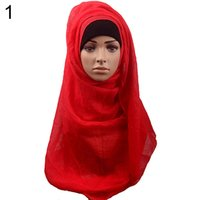 Wholesale Bluelans Women s Cotton Comfortable Muslim Islamic Ramadan Hijab Long Scarf Shawl Headwear