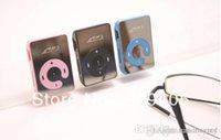 Wholesale 50pcs Metal MINI Clip MP3 Player with card slot Earphone usb cable pe bag dhl free ship vv