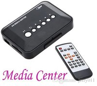 Wholesale New P HD Media Center RM RMVB AVI MPEG Multi Media Video Player with AV YPbPr USB SD MMC Port Remote Control