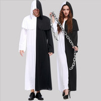 Cheap New Black And White Impermanence Ghost Is Poor Robe Cosplay Halloween Costumes Men And Women Sweethearts Outfit Club performance Clothing