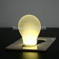 Wholesale Big Promotion Portable Pocket LED Card Light Lamp Concept Design Put in Purse Wallet ABS Warm White