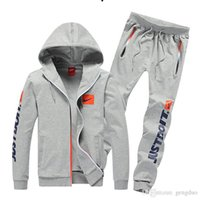 apparel suits - New Men s Clothing Sportswear suit Spring Autumn Sport Package Men clothes Set Teen jogging suits activewear Apparel Tracksuit