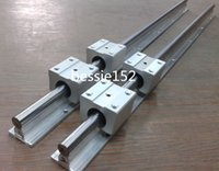 ball screw shaft - 2 SBR20 L mm Linear Rail support mm linear shaft SBR20UU straight line motion block for Ball screw