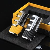 Wholesale COHIBA Cigar Smoking Ligther w Built in Cigar Punch Flame Torch Cigarette Fire Lighter LC