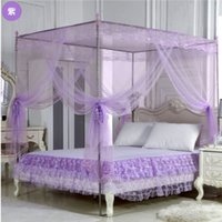 Wholesale 2016 Olympic hot products foldaway mosquito net Corner Bedding Bed Canopy Queen King Size Net Mosquito Netting Anti Insect