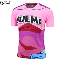 Wholesale 2016 fashion new anime D T shirt digital printing dragonball super Isaiah quick drying compression short sleeve T shirt