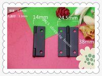 Wholesale 30pcs Paint black iron hinge hardware flat packaging box higes