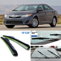 Wholesale 2pcs quot quot front windscreen windshield wiper blades Soft Rubber WindShield Wiper Blade For Toyota Camry