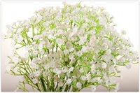 artificial flower offers - 2016 special offer wedding glioma gypsophila artificial flowers props bride holding pu real touch display flower DIY