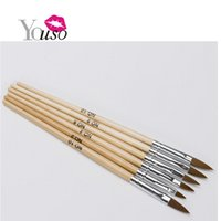 armor pot - 2016 New Sets Of Original Wooden Armor Brush Sets Nail Art Brush For Beautiful Nail Designs Painting Pot Pen