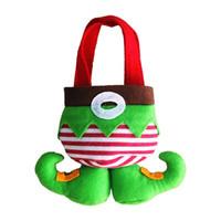 Wholesale Fancy Santa Pants Candy Elves Christmas Gift Bag Small Sack Stocking Filler Christmas Decoration WA1274