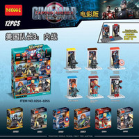 b iron - Captain America Civil War minifigures Building Blocks style Super hero Iron Man DIY Bricks Toys B