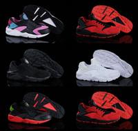 Wholesale 2016 New White Air Huarache Men Women Sneaker Black Red White Sneakers Breathable Running Shoe Huaraches Size Eu