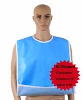 adjustable aprons - 75 cm factory hot sale wholsale high quality new ECO PVC waterproof adult bib washable adjustable nursing apron